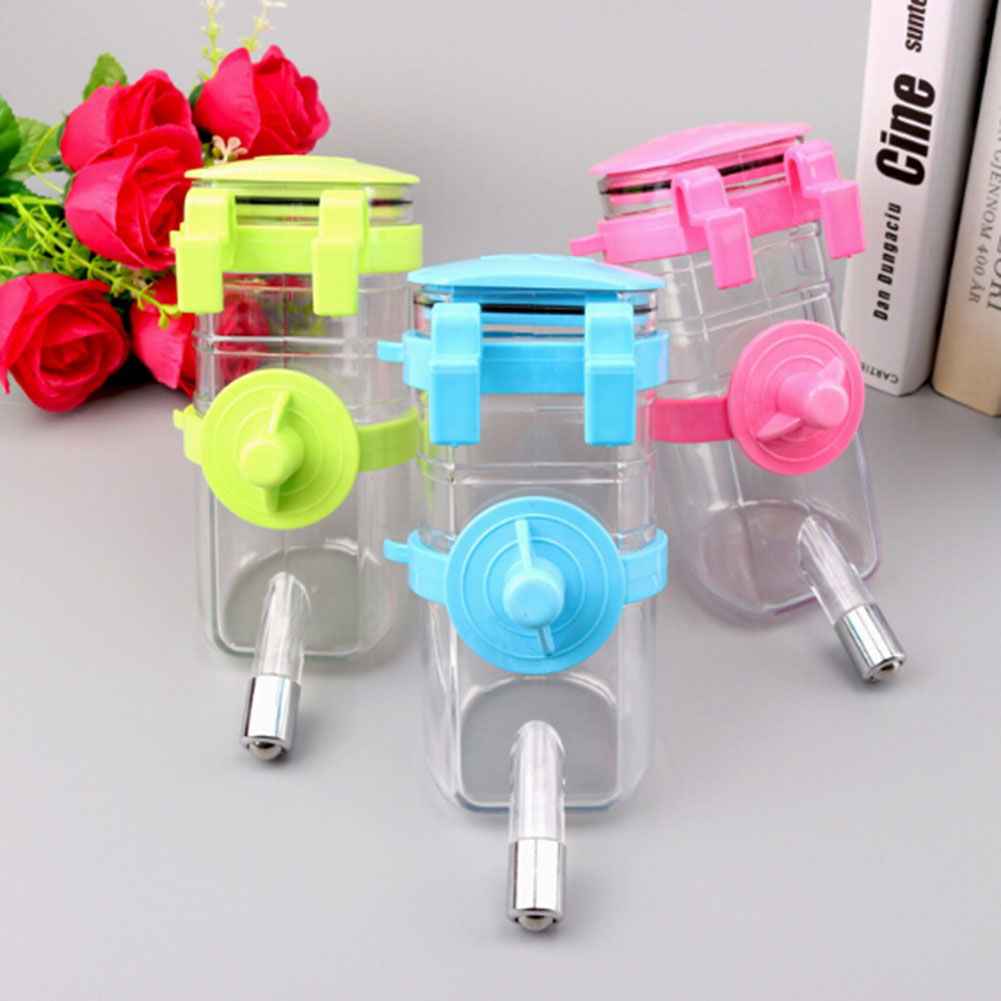 350ml Plastic Portable Pet Dog Water Bottle Travel Dog: New Portable Pet Drinking Fountain Dog Cat Wall Mounted