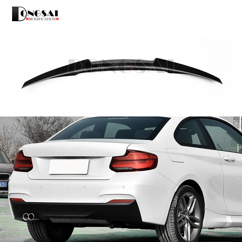 F22 M4 Style Carbon Fiber Spoiler F23 F87 M2 Wing Rear Trunk Lip For BMW 2 Series 2014 - 2016 2-Door Coupe M235i 218i 220i abs rear trunk spoiler wing lip for bmw 2 series f22 228i m235i 220i 2014 2015 car styling