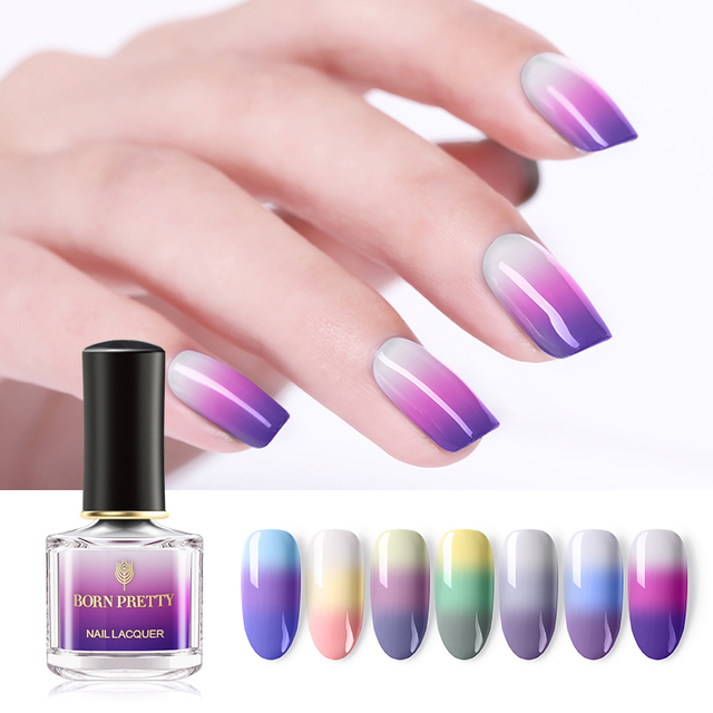 Born Pretty Thermal Nail Polish 6ml 3 Colors Temperature Color