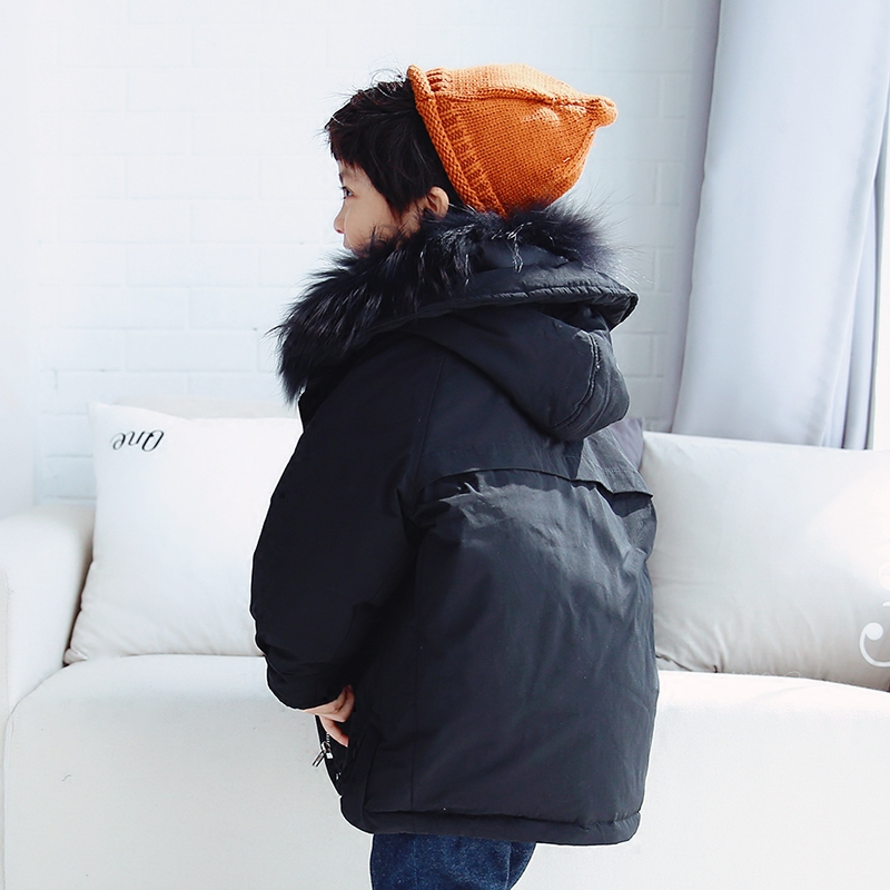 Kids Boy Girl Loose Winter Coats Children's Outerwear Warm Fur Collar Hooded Jackets plus size winter women cotton coat new fashion hooded fur collar flocking thicker jackets loose fat mm warm outerwear okxgnz 800