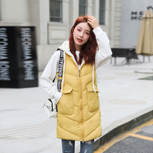 br winter jacket women vest slim hooded coat parkas mujer 2020 moda invierno for