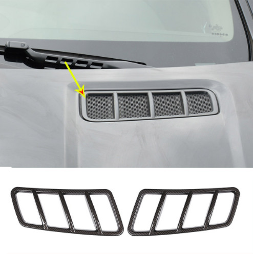 2pcs Carbon Fiber ABS Chrome Engine Roof Hood Frame Trim For Mercedes Benz ML GL GLE GLS Class W166 2013-2018 Car Accessories 4pcs abs chrome side door body molding cover trim strip plate for mercedes benz gle class w166