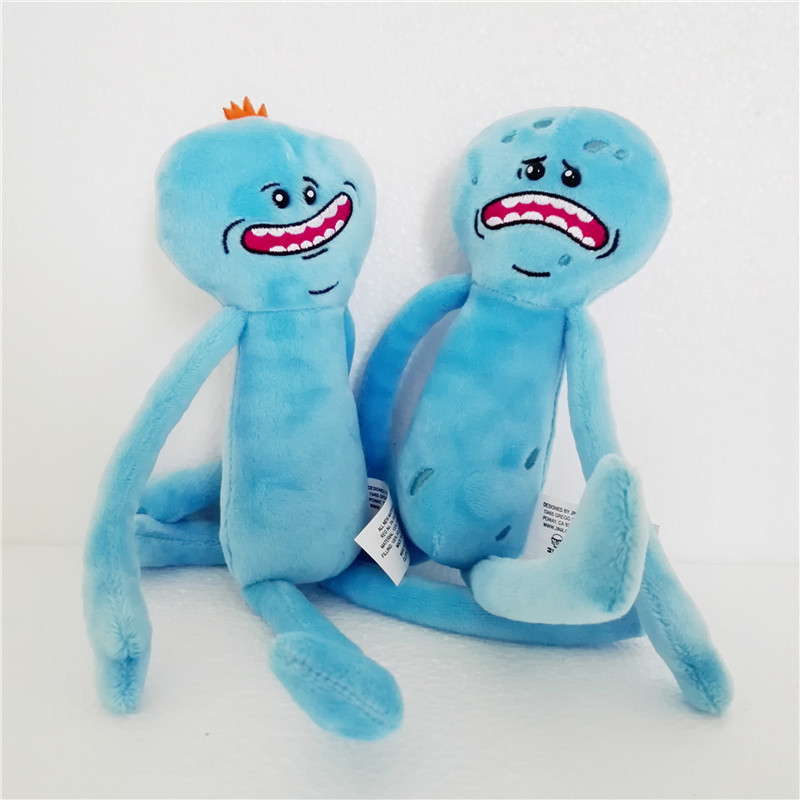 Hot Rick and Morty Happy Sad Meeseeks Plush Toys 25CM Soft Stuffed Dolls For Baby Toys Kids Birthday Gifts image