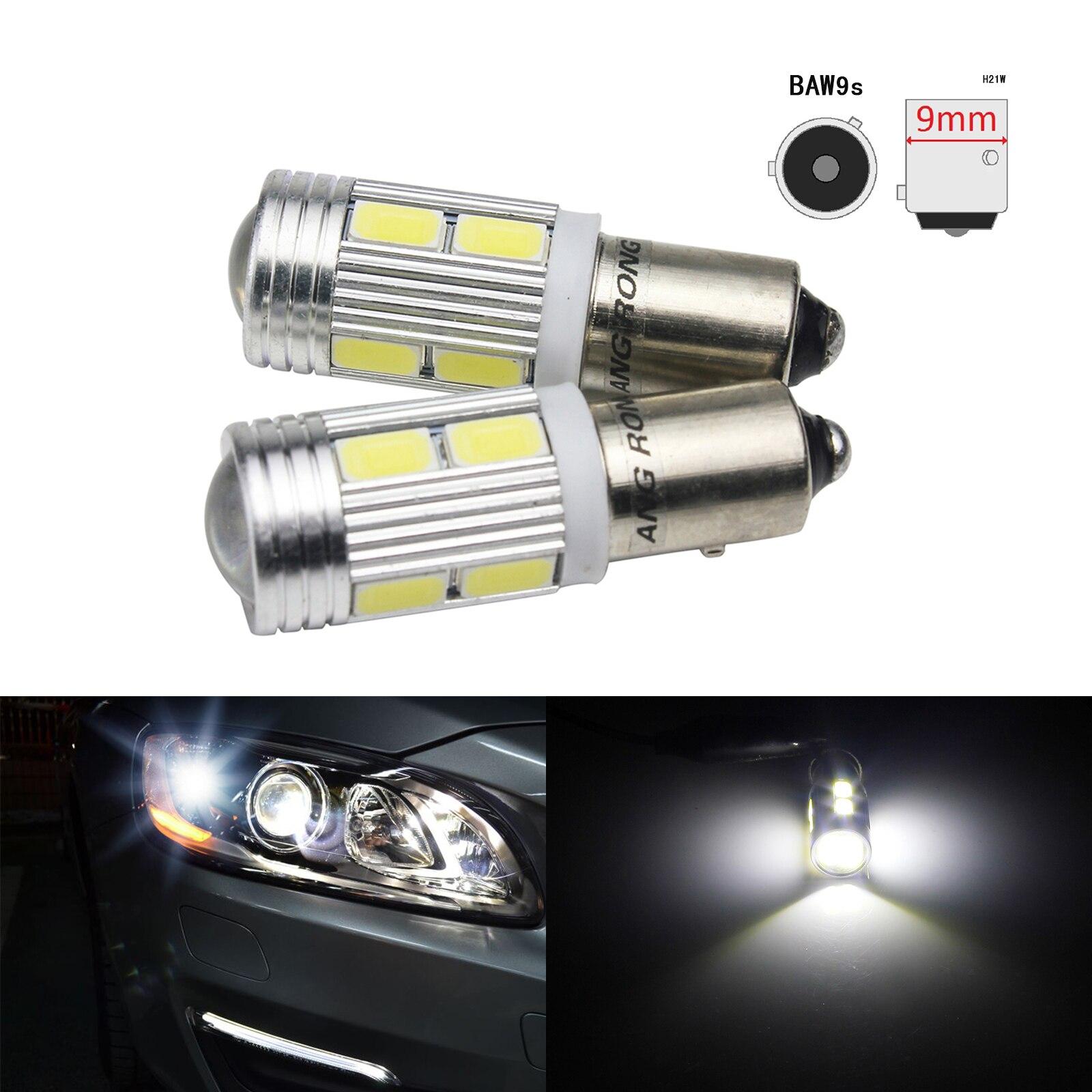H21W BAY9s 10 SMD SAMSUNG LED Sidelight Turn Signal Indicator Reverse Light Bulb