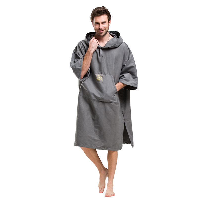 Printing Changing Robe Bath Towel Outdoor Adult Hooded Beach Towel Poncho Bathrobe Towels Women Man Bathrobe