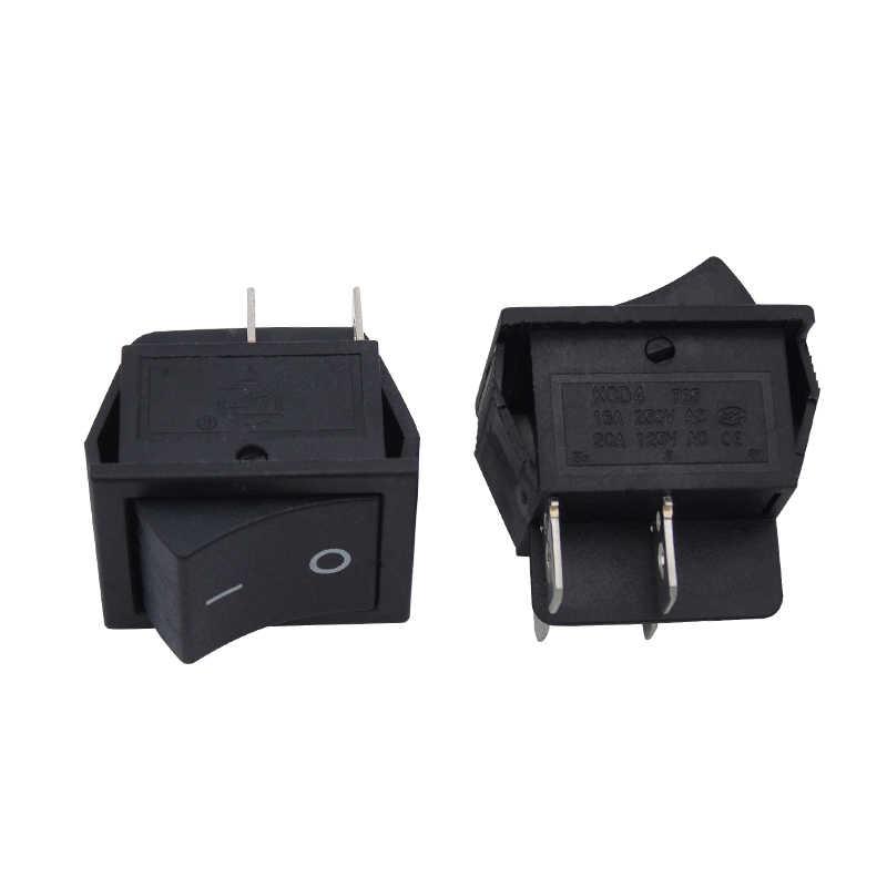 2 sztuk czarny AC 15A 250V 20A 125V 4 szpilki DPST na/wyłącznik kołyskowy powrót sprężynowy chwilowy automatyczne spada z powrotem w jego stanie wyłączonym