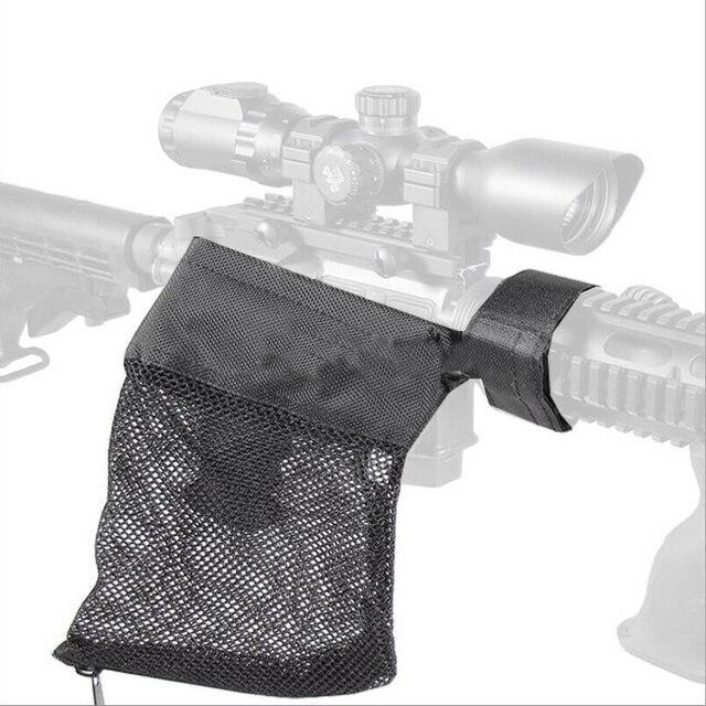 2018 Tático Saco de Malha de Nylon Captura Preto 223/5.56 Engrenagem militar AR-15 Ammo Brass Shell Catcher Armadilha De Malha Caça acessórios