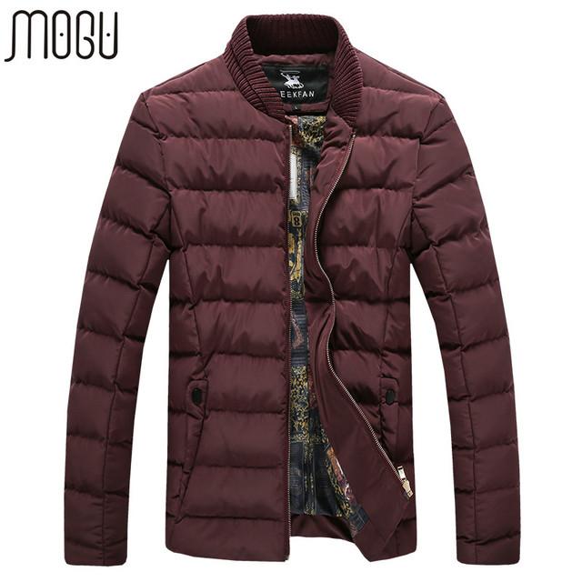 MOGU hombres Chaqueta 2017 Nueva Llegada Moda Casual Male Abrigos alta Calidad Espesar hombres Abrigos Tamaño Asiático 4XL Chaquetas de Invierno hombres