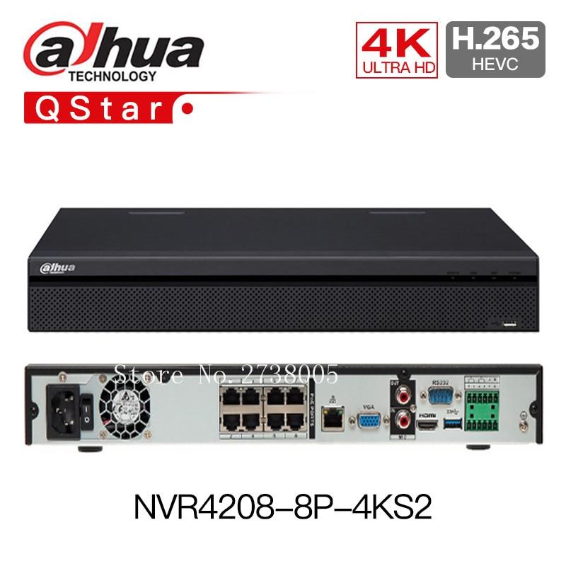 Dahua 4K H.265 NVR4208-8p-4ks2 8ch POE NVR 8 Channel 1U 8 PoE Lite Network Video Recorder h265 4K NVR4216-16p-4KS2 16ch poe NVR