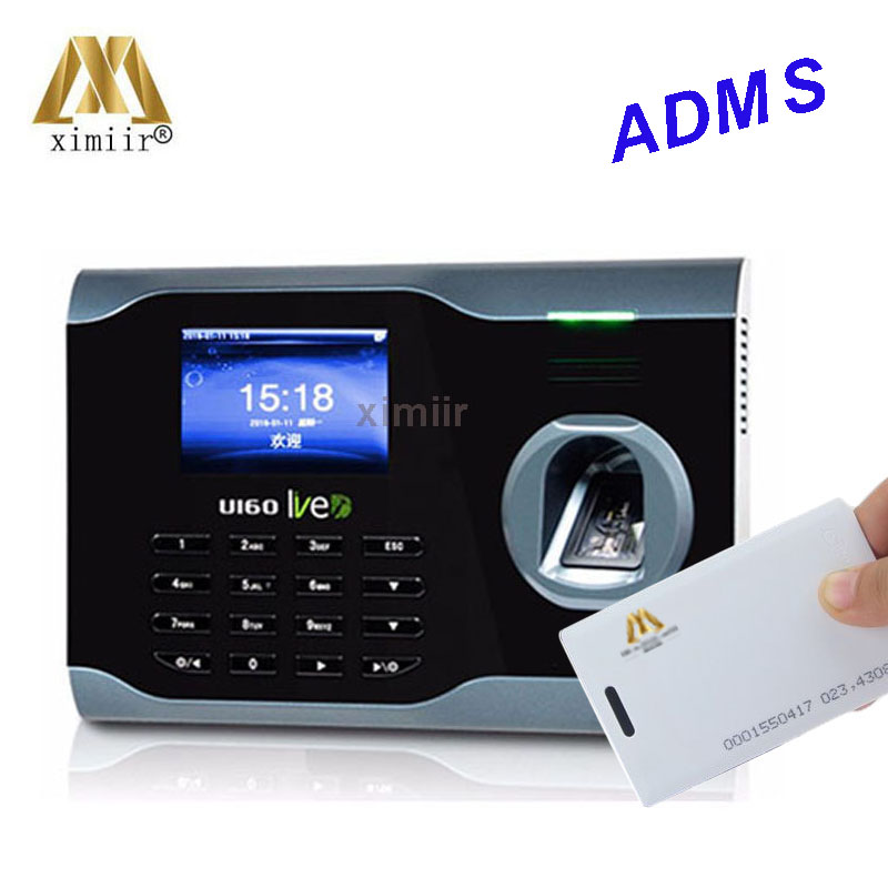 WIFI+ADMS TCP/IP Biometric Fingerprint Time Clock Recorder Attendance Employee Electronic Punch Reader Machine U160 Time Device