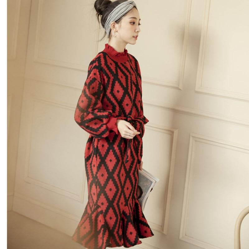 Longues Mode Vêtements red Sirène Femmes Manches Lâche De Élégant Laine Yellow Robes Papillon rrFxZz