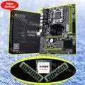 Скидка новый материнская плата HUANAN ZHI X58 Pro Материнская плата с процессором Intel Xeon X5680 3,33 ГГц 16 gb Оперативная память DDR3 регистровая и ecc-память