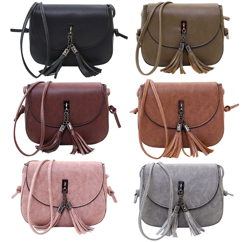 Fashion Women Girl Small Mini Tassel Crossbody Shoulder Bags Tote Purse Handbag
