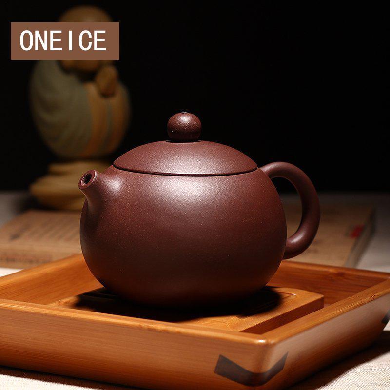 Chinois Yixing Xishi théière Kungfu fait à la main pomme de terre Pot Dahongpao boue thé ensemble théières auteur Shao Junya 188 boule trou