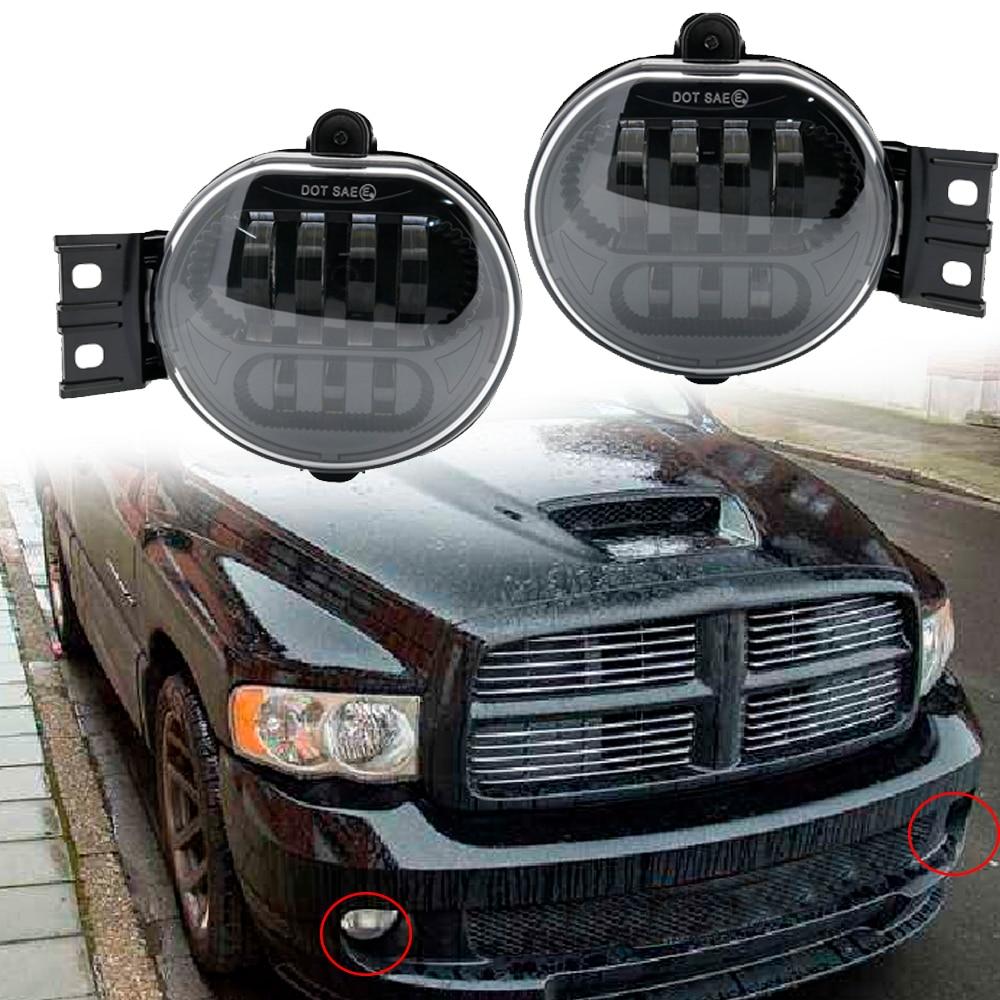 2002 Dodge Ram 1500 Accessories >> Us 56 25 11 Off 2018 New Car Lights Fog Lamp For 2002 2008 Dodge Ram 1500 2500 3500 2004 2006 Dodge Durango Pickup Truck Led Fog Lights Pair In Car