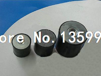 10 pcs Double end Female Thread M8 Rubber damper Rubber Mount Size 30mm*20mm 10 x double end thread m4 10 rubber damper rubber mount mount size 15mm 15mm