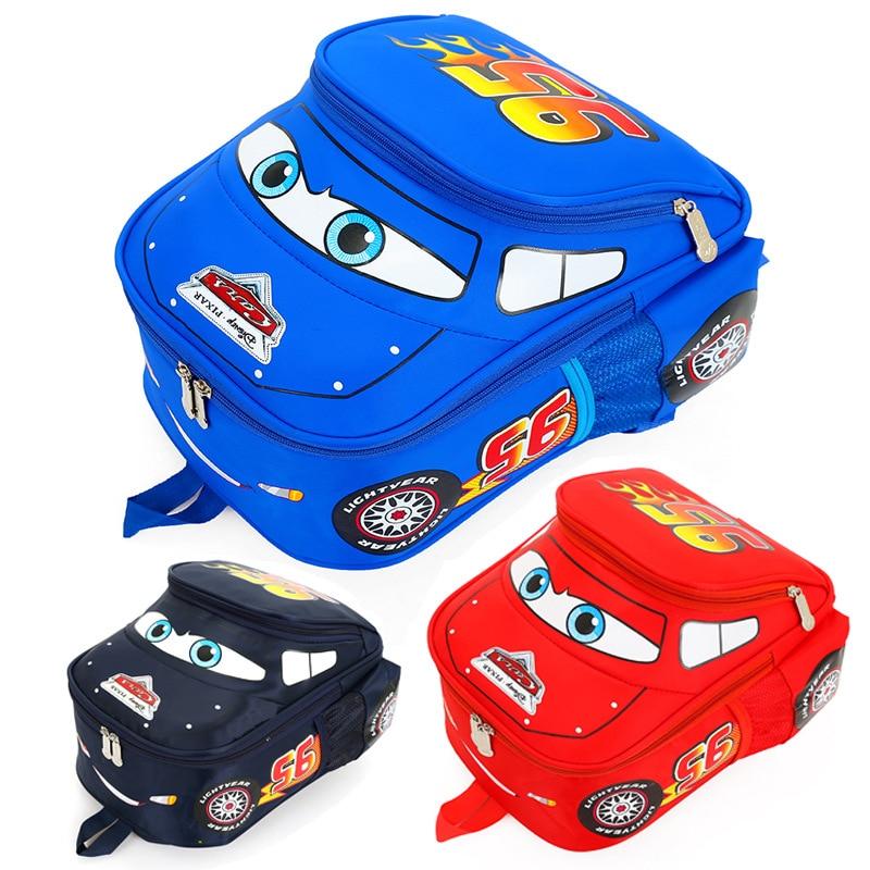 все цены на 3D Cartoon Car Design School Backpack Mochila Unisex School Bag Luxury Backpack Mochila Feminina Chain Clutch Student Canvas Bag онлайн