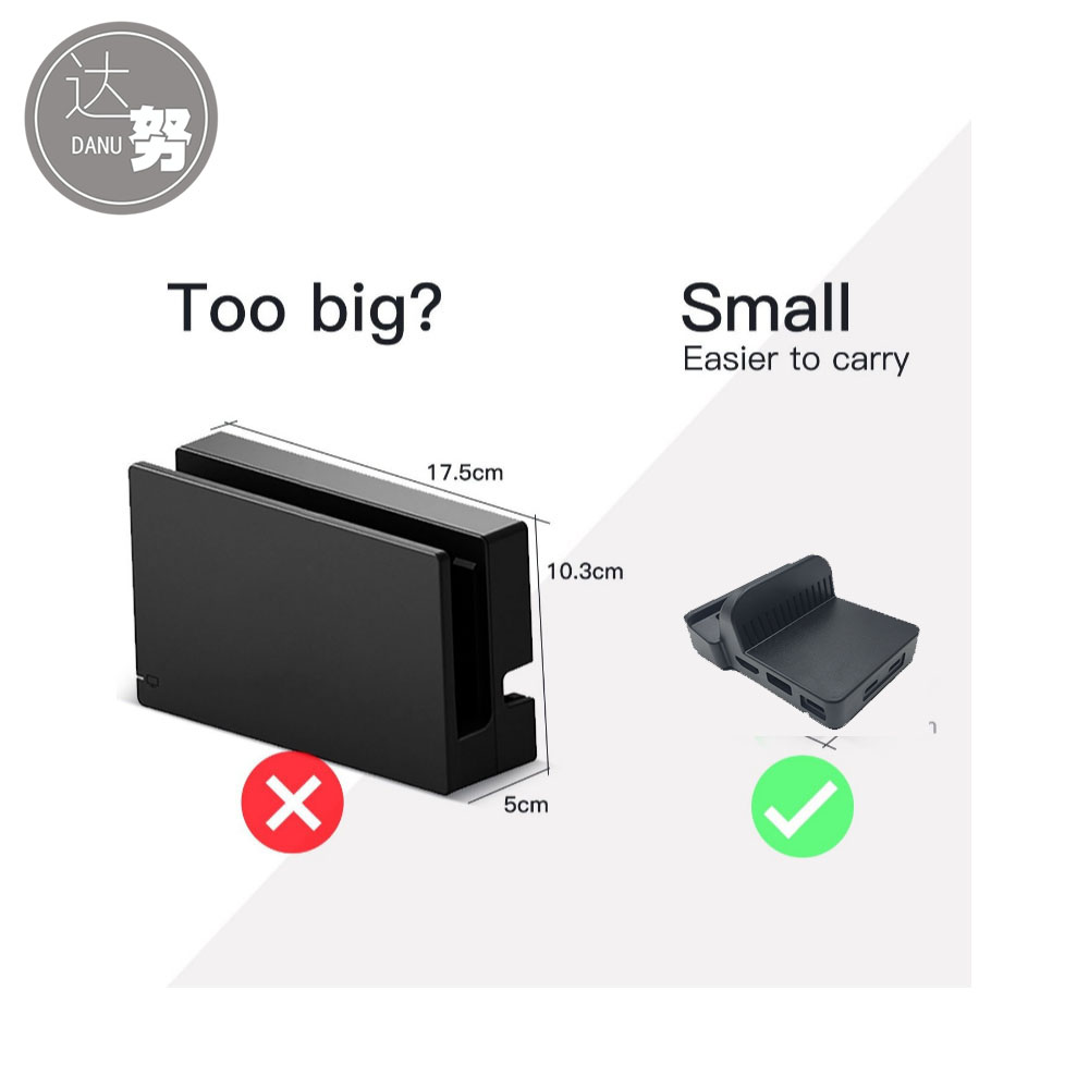 Mini Mod Portable Replacement Heat Dissipation Dock Cooling Base For Nintend Switch Dock Housing Case churrasqueira para fogão