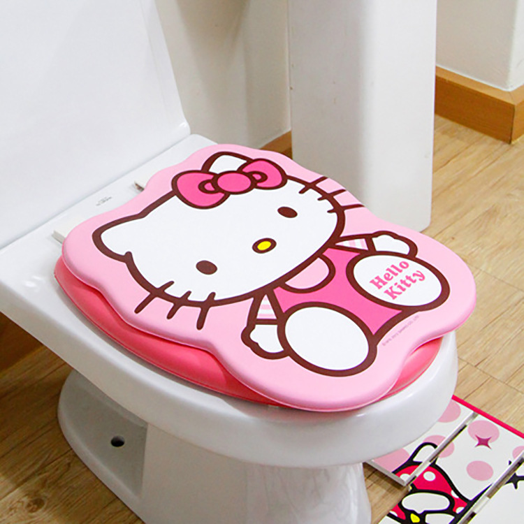 Genuine Hello Kitty Toilet Seat Cover Geketi Cat Covers Set Pink Cute O Shape 35.5cm*43cm kitbwkk5000rcp750411 value kit rubbermaid autofoam touch free skin care system rcp750411 and boardwalk premium half fold toilet seat covers bwkk5000