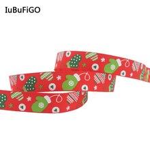 """[IuBuFiGo] 3/""""(9 мм) с Рождеством Санта ленты X'mas Grpsgrain ленты для украшения 10y"""