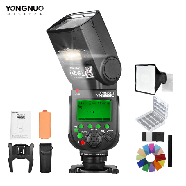 YONGNUO YN968C Wireless TTL Flash Speedlite per Fotocamere REFLEX Digitali Canon 1/8000 s HSS Built In HA CONDOTTO LA Luce Compatibile con YN622C YN560