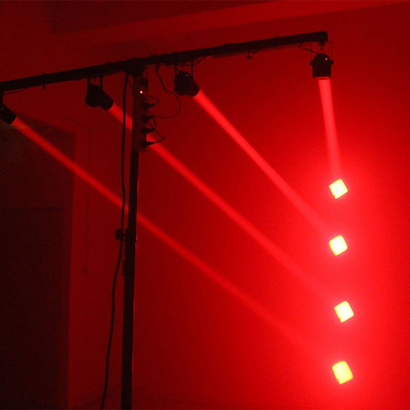 Светодиодный сценический луч светильник мини принадлежности для свадебных церемоний диско вечерние луч Точечный светильник диско светильник лазерный проектор для сценического освещения Smart Dj оборудование - Цвет: Red