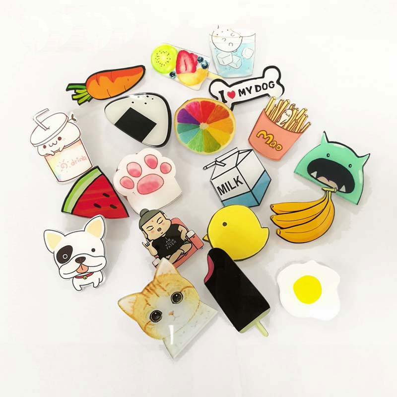 1 PCS Lovely Cartoon Icons On The Pin Kawaii Icon Badge Free Shipping Icons On The