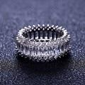 Новый обручальное кольцо женщины кубический циркон блеск элегантный цветок кольцо для женщин