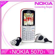 Refurbished original Nokia 5070 Cell phone cheap phone unlocked GSM multi languages 1 year warranty