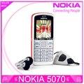 Restaurado original nokia 5070 teléfono barato abrió el teléfono celular gsm de múltiples idiomas 1 año de garantía