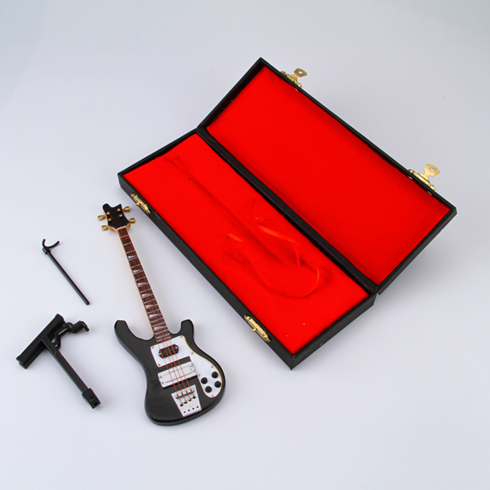20cm Miniature Model Electric Guitar Mini Bass Music Loving Collection Home Decorations Friend