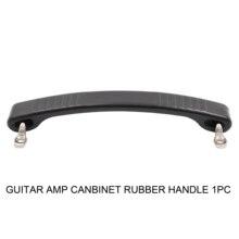 1 unidad de mango de goma de hueso de perro Vintage negro para Fender guitarra AMP altavoz gabinete caja de madera caja de almacenamiento muebles Handshandle
