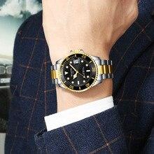 New European and American personality waterproof Fashion ultra-thin steel belt quartz watch simple business luminous trend 009