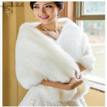 Modabelle White Winter Wedding Bolero Capa Novia Invierno Bridal Wraps Wedding Bontjas Dames Shrugs Bruiloft Accessoires(China)