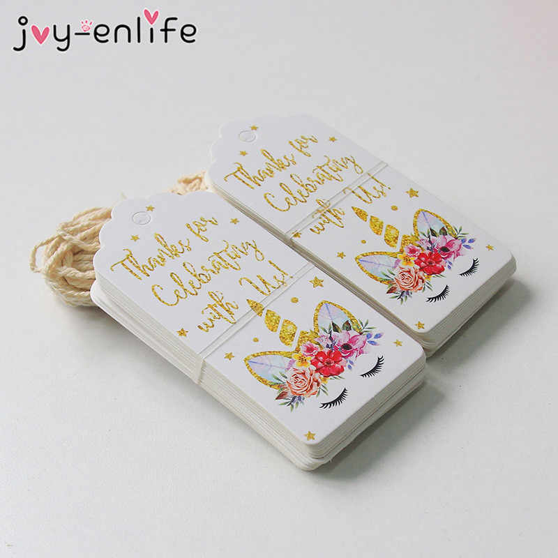 JOY-ENLIFE Unicorn Kertas: Colorful Unicorn Label Ulang Tahun Hadiah Pembungkus Perlengkapan Unicorn Tema Pesta dan Hadiah Supplies