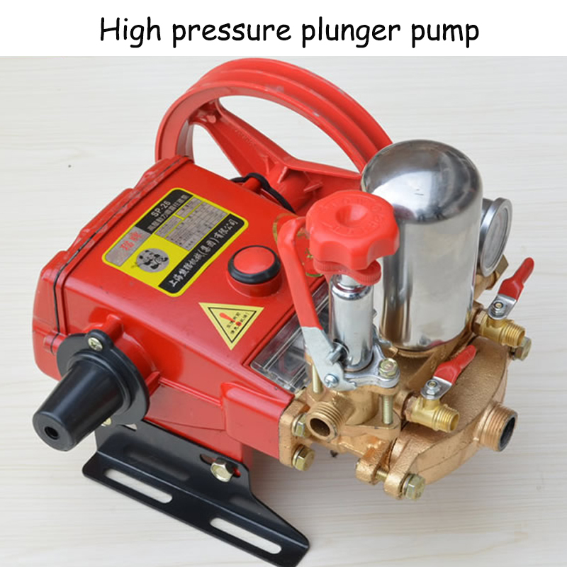 Plunger Pump For Pesticide Spraying Machine High Pressure Three Cylinders Pump Type 26 With English Manual high pressure quantitative axial plunger pump10mcy14 1b ram pump piston pump hydraulic oil pump