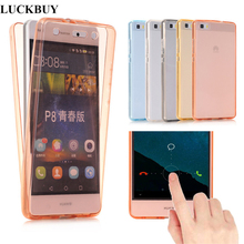 LUCKBUY Soft Case for Huawei P8 Lite 2017 P9 Mini P10 Plus Honor 8 Mate 10 lite Clear 2 In 1 Cover 360 TPU
