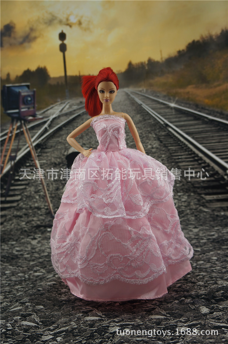 Free transport lot of for barbie garments clothes bjd 1/6 doll lovely palace Bra romantic wedding ceremony attire trend garments