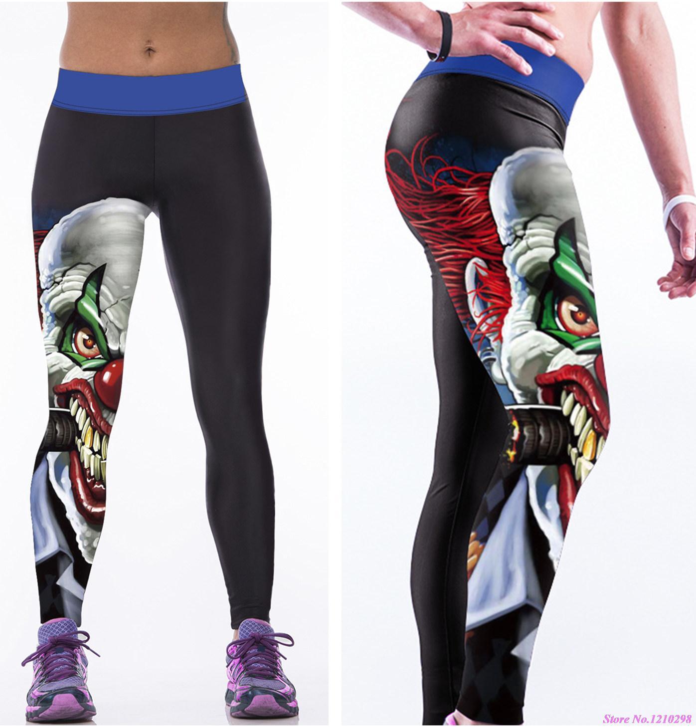 edfd3238c6 Calças Esportivas das mulheres 3D Imprimir O Batman The Joker Leggings  Calças de Yoga Calças de Ginástica Profissional Corrida de Fitness de Alta  ...