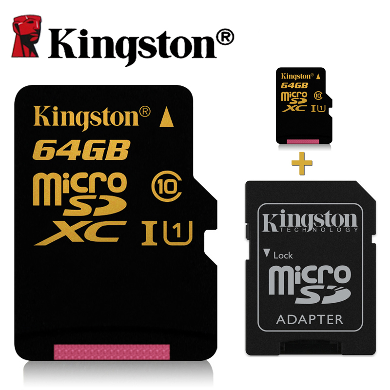 kingston micro sd card 64gb class 10 micro sd 32gb 16gb high speeds to capture photos or record. Black Bedroom Furniture Sets. Home Design Ideas