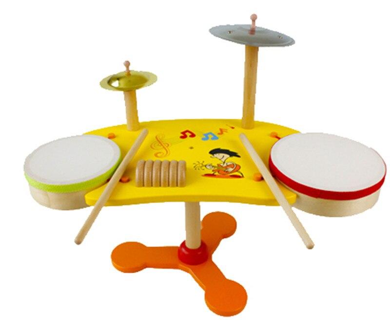 Nouveaux blocs en bois jouet Bab enfants jouets bois tambour Kit ensemble Instrument de musique apprentissage éducatif préscolaire formation livraison gratuite