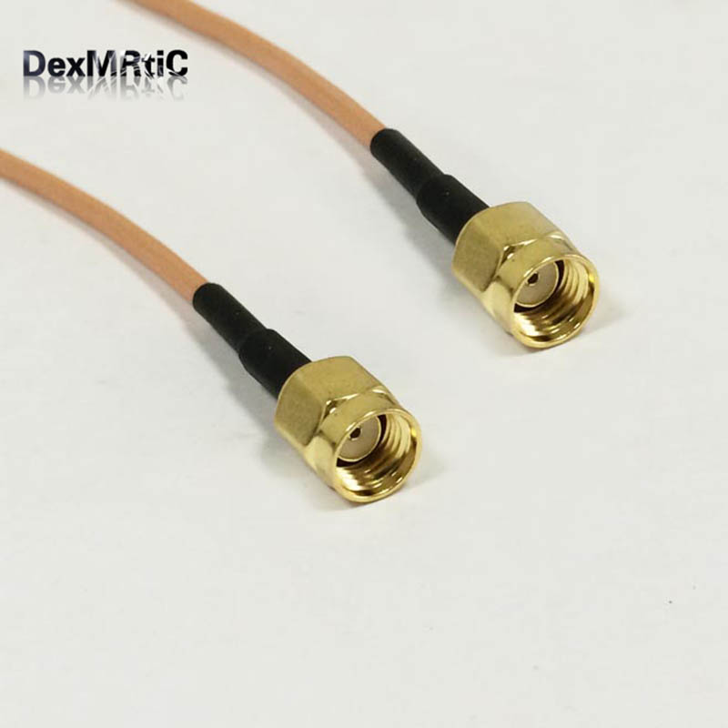 1PC New RP- SMA Male Plug To RP- SMA Male Plug Connector RG316 Coaxial Cable 15CM 6 Adapter Antenna Modem Pigtail 8pcs rf cable connector mcx rf coaxial cable male plug adapter mcx usb modem tv antenna pigtail cable rg316 178 lmr100
