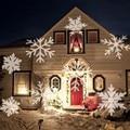 Ruchoma lampa projektora laserowego śniegu śnieżynka oświetlenie sceniczne led świąteczne przyjęcie noworoczne Halloween projektor oświetlenie zewnętrzne Oświetlenie sceniczne Lampy i oświetlenie -
