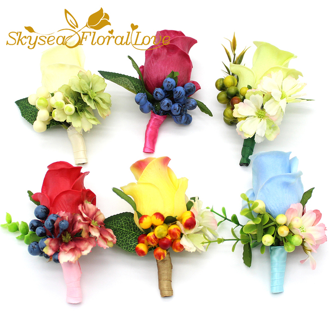 Corsages prom PU Rose flower 2018 Wedding corsages and boutonnieres ...