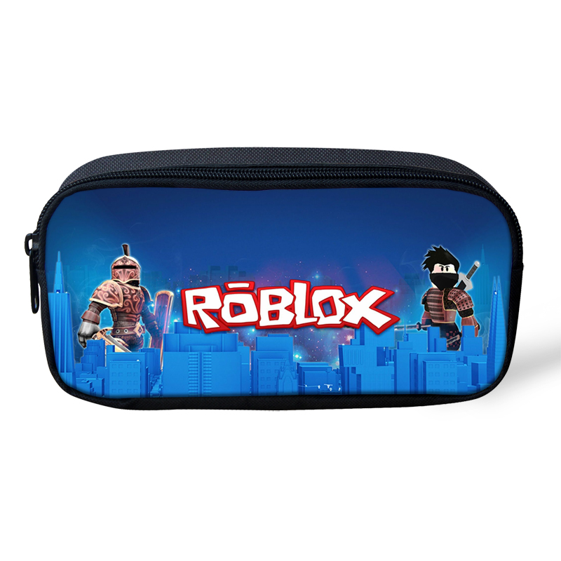 Roblox Pattern Children Pencil Case Game Bag Cosmetic Bags For