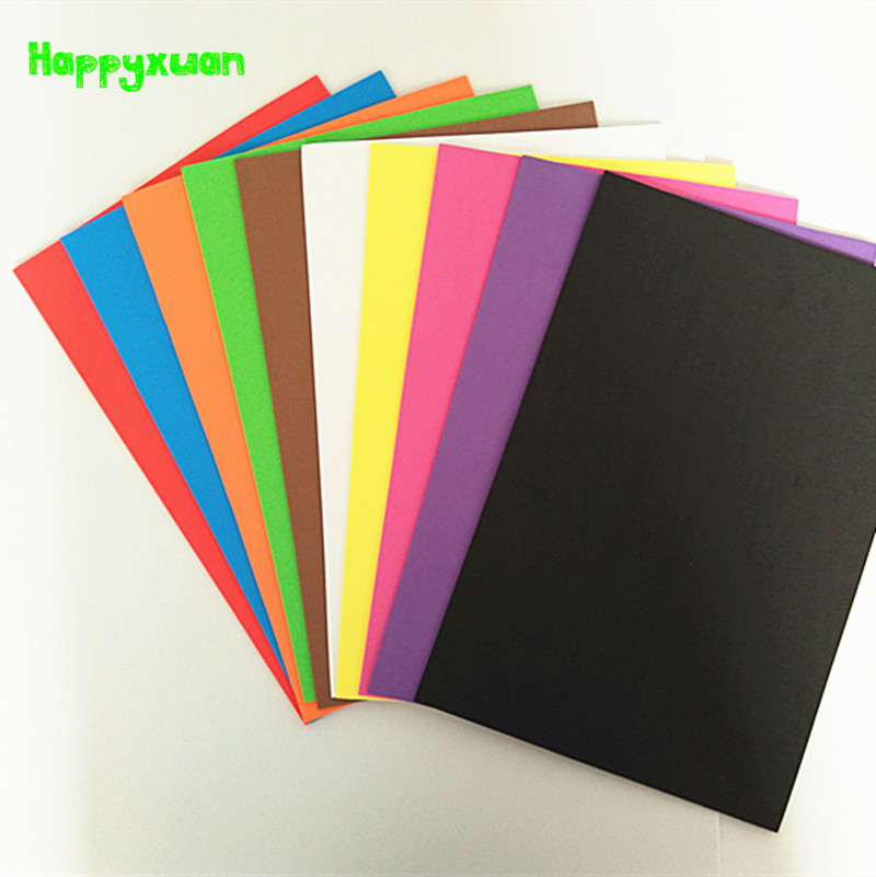 Happyxuan 10pcs/pack 20*30cm 2mm Eva Foam Sheet Scrapbooking Crafts Paper Kindergarten Handmade Diy Materials Colorful