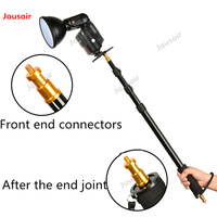 Godox Flash with telescopic rod outer clap a pole flash lamp holder mobile scaffold pole lights in the attachment CD50 T03