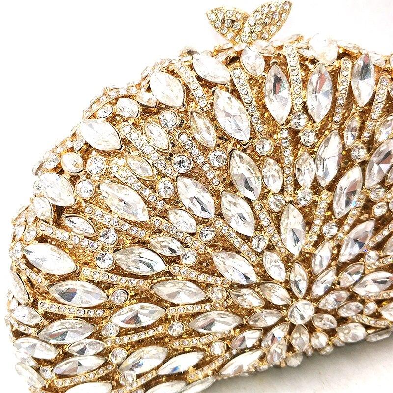 Nowych kobiet wieczór torebka na imprezę diamenty eleganckie torebki luksusowe sprzęgła ślubne wesele małe portfel kryształ torebki torba w Torby z uchwytem od Bagaże i torby na  Grupa 2