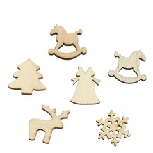 100 pcs/Lot Natural Wooden Figurines for Home Decor