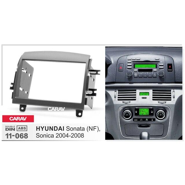 Carav 11 068 Aftermarket Double Din Radio Stereo Mount Frame Installation Dashboard Dash Kit For Hyundai Sonata Nf Sonica
